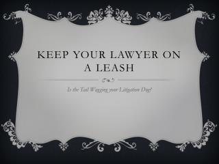 KEEP YOUR LAWYER ON A LEASH