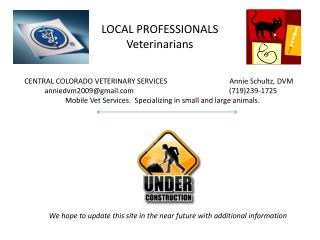 LOCAL PROFESSIONALS  Veterinarians