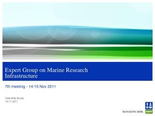 Expert Group on Marine Research Infrastructure