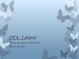 UDL Lesson