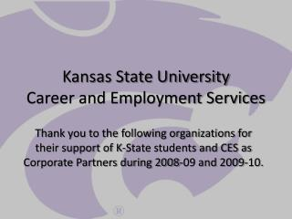 Kansas State University Career and Employment Services