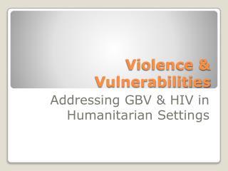 Violence & Vulnerabilities