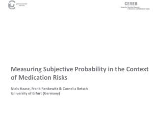 Measures of Subjective Probability