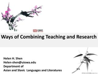 Ways of Combining Teaching and Research