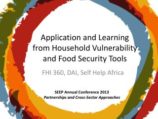Application and Learning from Household Vulnerability and Food Security Tools