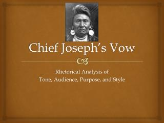 Chief Joseph's Vow