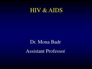 Dr. Mona Badr Assistant Professor