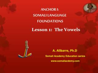 Lesson  1 :  The Vowels