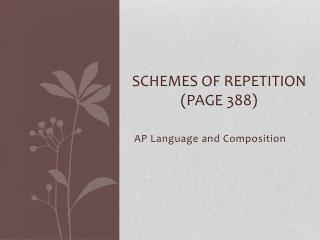 Schemes of Repetition (Page 388)