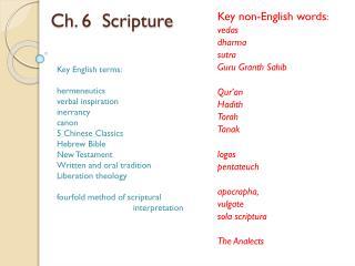 Ch. 6  Scripture