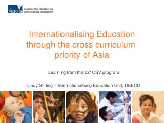 Internationalising Education through the cross curriculum  priority of Asia