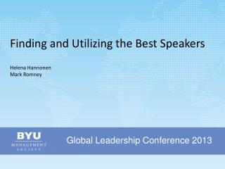 Global Leadership Conference 2013
