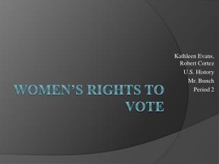 Women's Rights to Vote