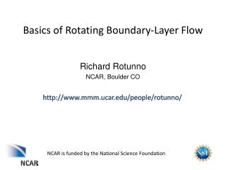Basics of Rotating Boundary-Layer Flow