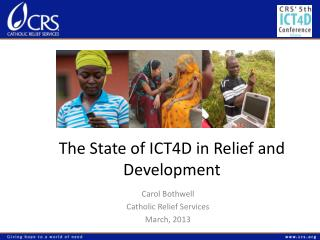 The State of ICT4D in Relief and Development