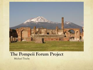 The Pompeii Forum Project