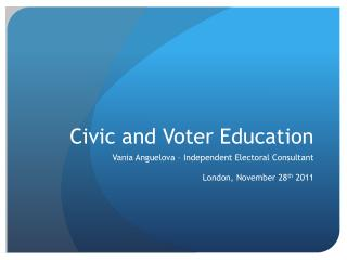 Civic and Voter Education