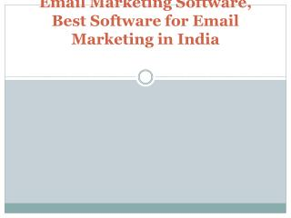 Email Marketing Software, Best Software for Email Marketing