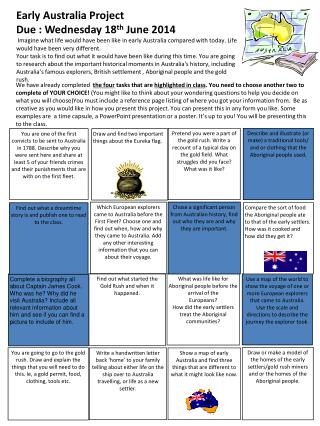 Draw and find two important things about the Eureka flag.