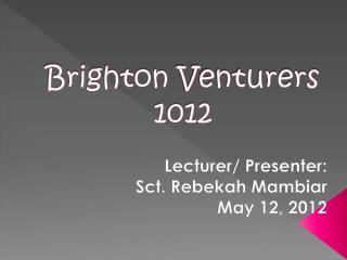 Brighton  Venturers 1012