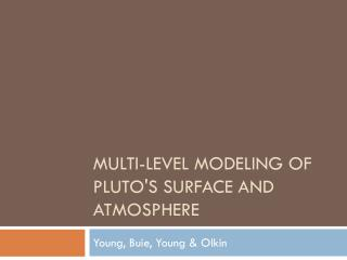 Multi-level modeling of Pluto's surface and atmosphere