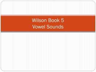 Wilson Book 5 Vowel Sounds