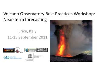 Volcano Observatory Best Practices Workshop: Near-term forecasting