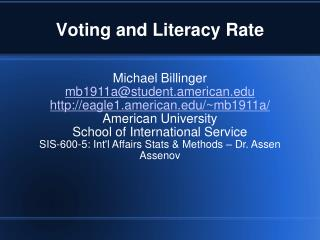 Voting and Literacy Rate