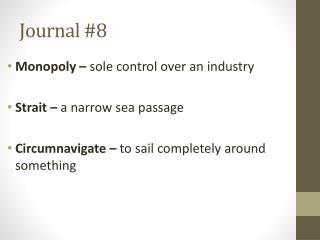 Journal  #8
