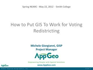 How to Put GIS To Work for Voting Redistricting