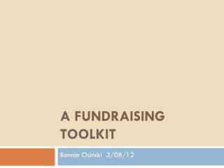 A fundraising toolkit