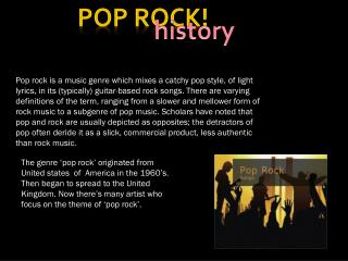 Pop rock!