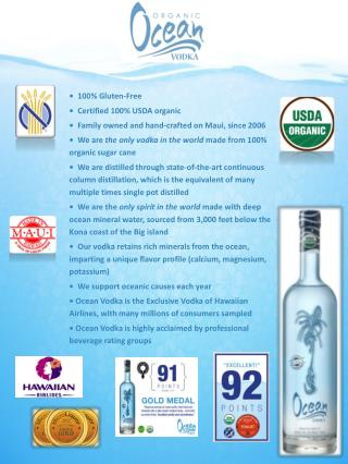 •  100 % Gluten-Free  •  Certified  100% USDA organic