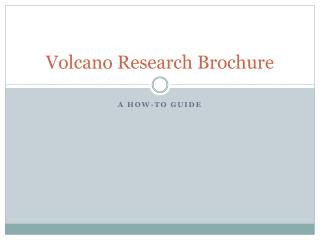 Volcano Research Brochure