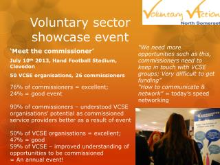 Voluntary sector  showcase event