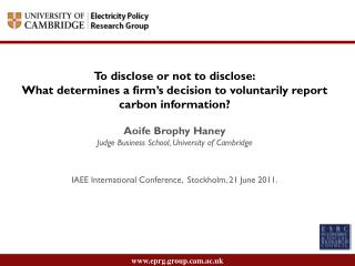 To disclose or not to disclose: