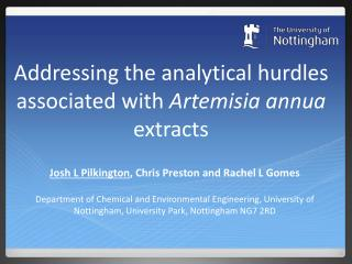 Addressing the analytical hurdles associated with  Artemisia  annua extracts