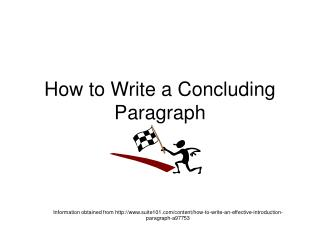 How to Write a Concluding Paragraph