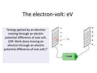 The electron-volt:  eV