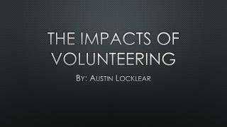 The impacts of volunteering