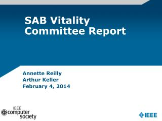 SAB Vitality Committee Report