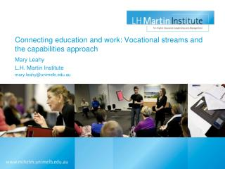Connecting education and work: Vocational streams and the capabilities approach