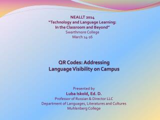 QR Codes: Addressing  Language Visibility on Campus