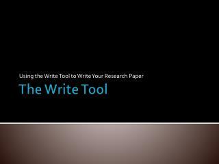 The Write Tool