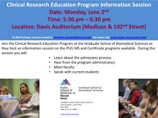 Clinical Research Education Program Information Session