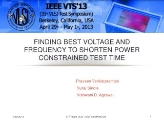 Finding Best Voltage and Frequency to Shorten Power Constrained Test Time