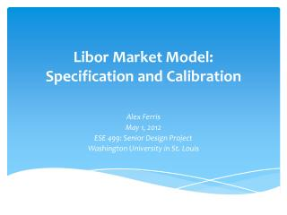 Libor Market Model: Specification and Calibration