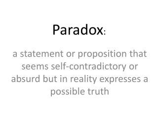 Paradox :