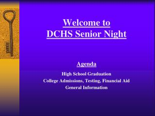 Welcome to  DCHS Senior Night