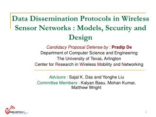 Data Dissemination Protocols in Wireless Sensor Networks : Models, Security and Design